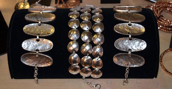 Hammered Silver Bracelets