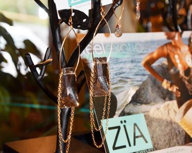 Zia Couture Smoky Topaz Earrings